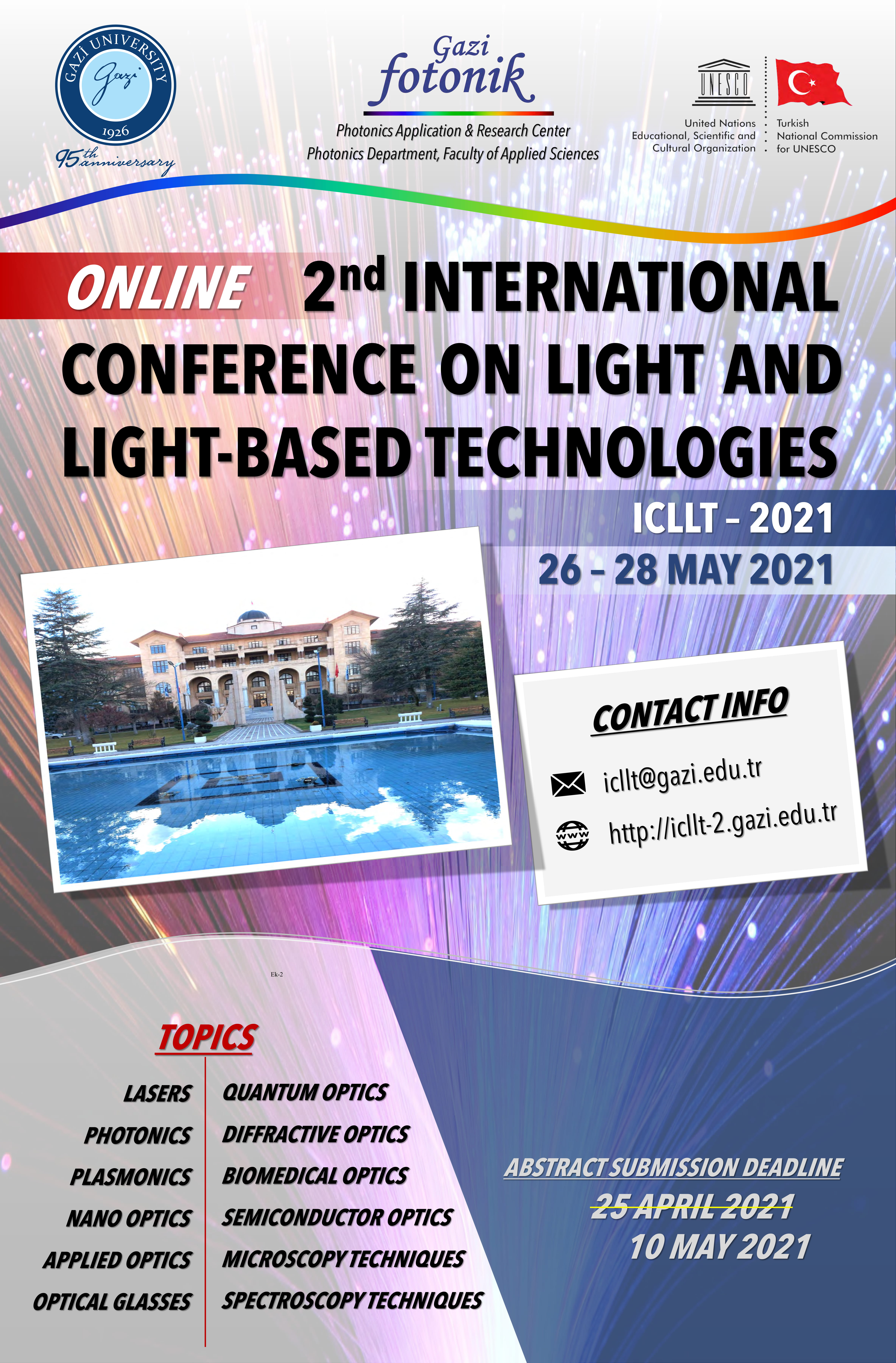 Online 2nd International Conference on Light and Light-Based Technologies -ICLLT 2021