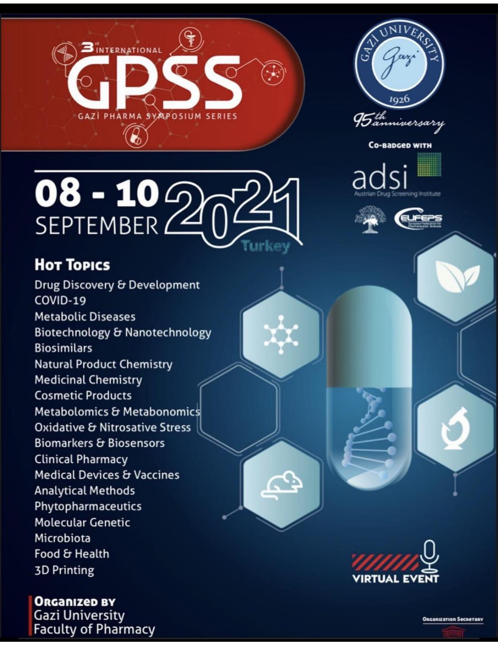 3rd International Gazi Pharma Symposium Series