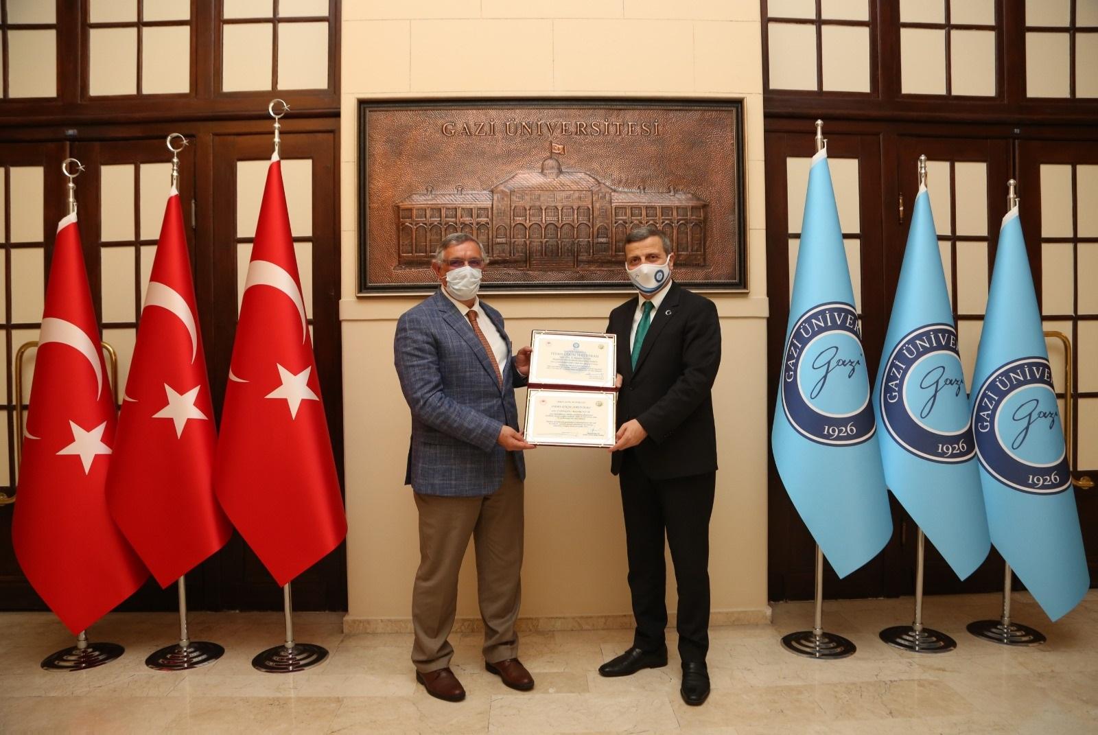 Kyrgyzstan-Turkey Manas University Rector Prof. Dr. Alpaslan Ceylan visited our Rector Prof. Dr. Musa Yıldız