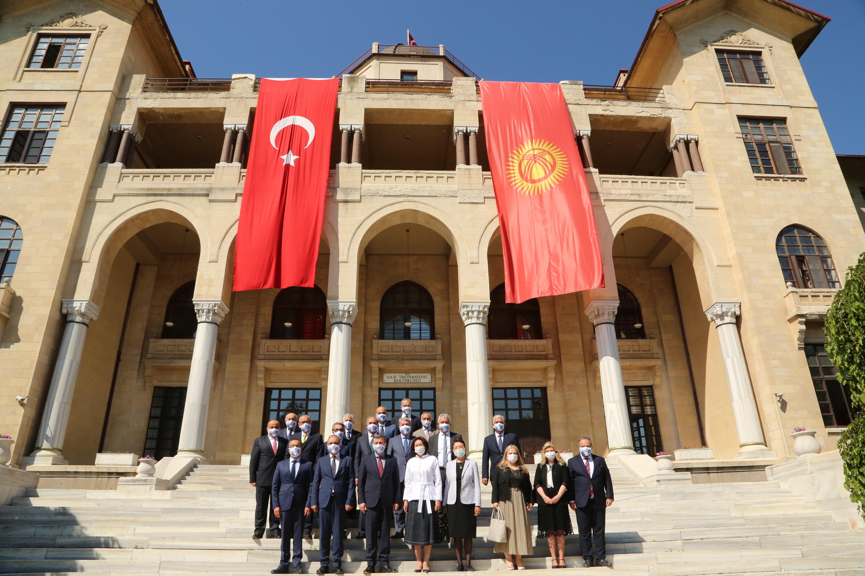 Aygul Caparov, wife of President of Kyrgyzstan Sadir Caparov, Visited Our University