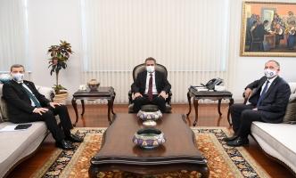 Rektörümüz Prof. Dr. Musa Yıldız, Milli Eğitim Bakanı Prof. Dr. Mahmut Özer'i Ziyaret Etti