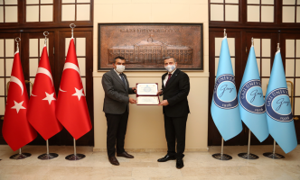 Ankara Hacı Bayram Veli Üniversitesi Rektörü Prof. Dr. Yusuf Tekin, Rektörümüz Prof. Dr. Musa Yıldız'ı Ziyaret Etti