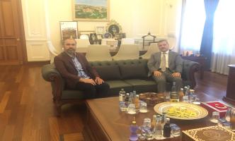 Bayburt Üniversitesi Rektörü Prof. Dr. Mutlu Türkmen, Rektörümüz Prof. Dr. Musa Yıldız'ı Ziyaret Etti